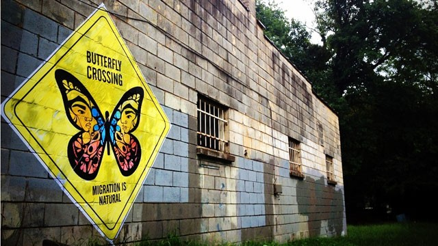 Butterfly Crossing design by John Carr and Favianna Rodriguez